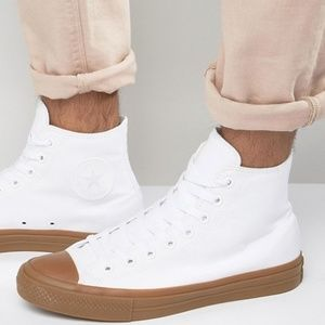 Converse All Star White High Top Sneakers